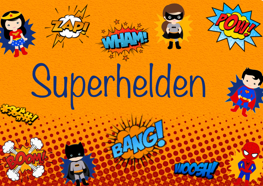 Superhelden Abobox Bild mit Comichelden